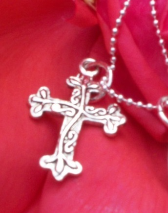 Silver Toned Cross Charm