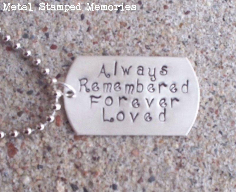Dad Dog Tag Necklace