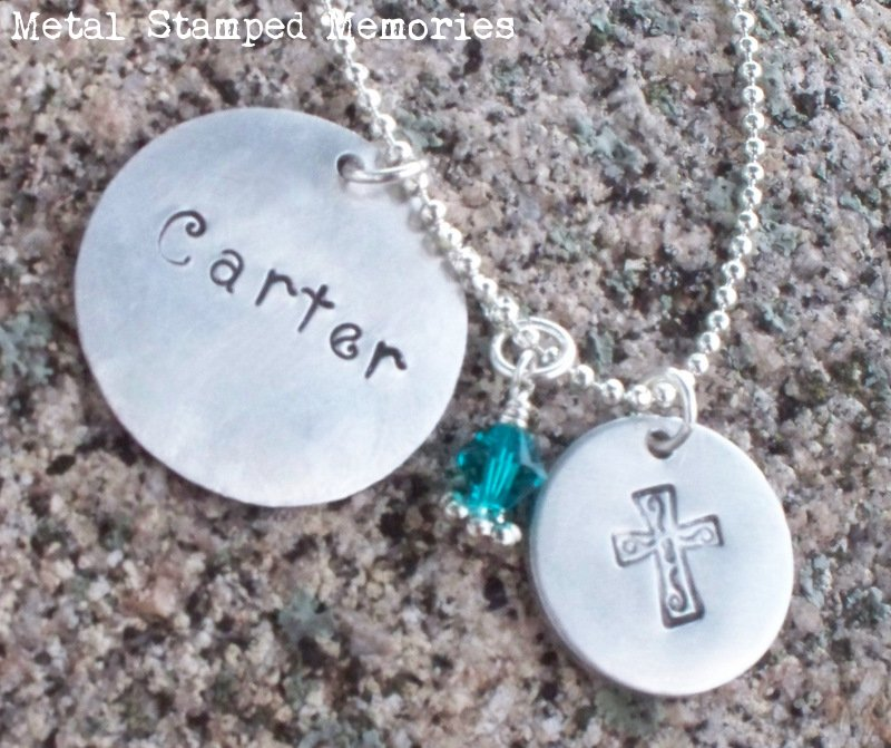 Memory Necklace with Cross