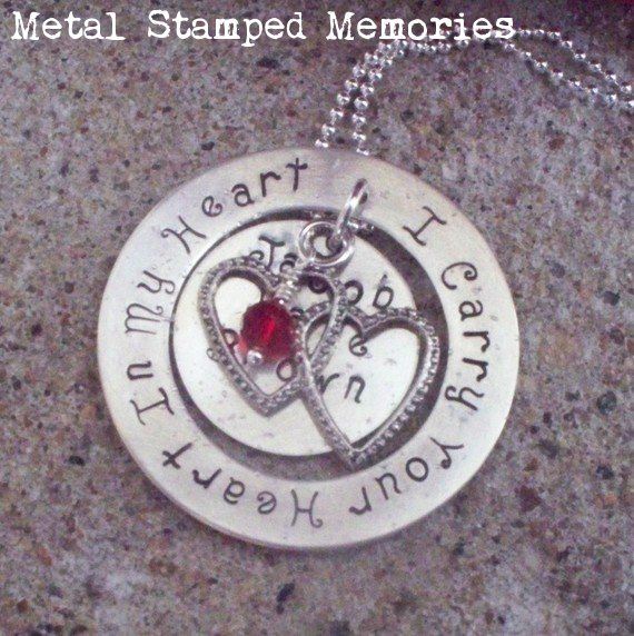 I Carry Your Heart in My Heart with Name Necklace