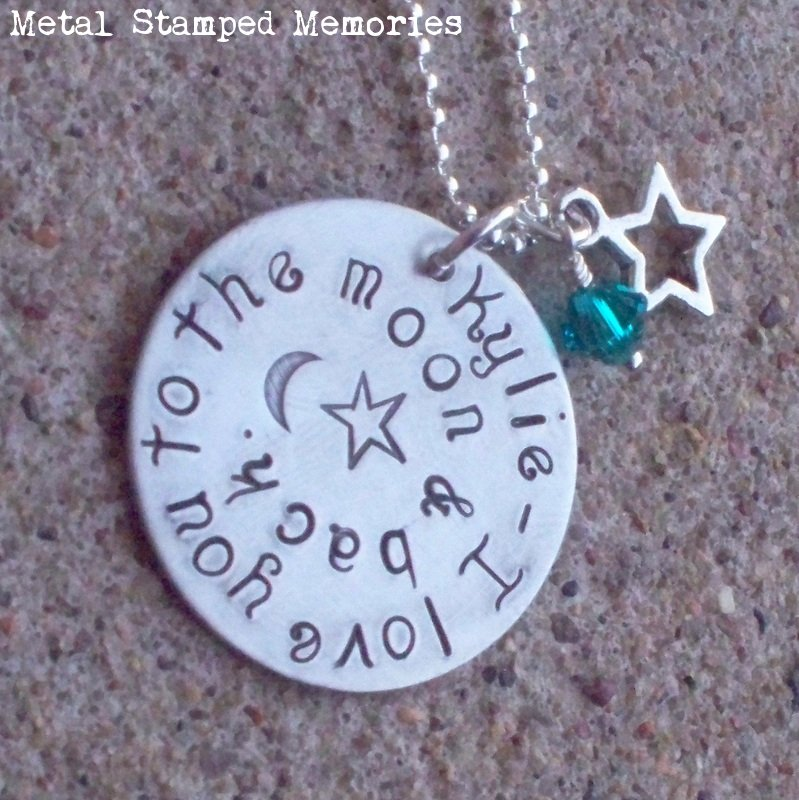 Child Size Love You to the Moon and Back Necklace