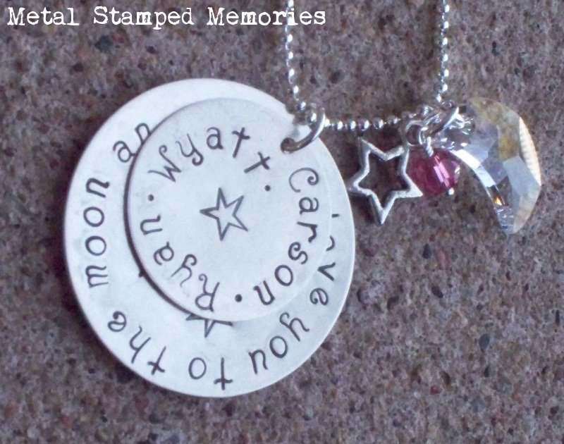 Love You to the Moon and Back Circle Necklace