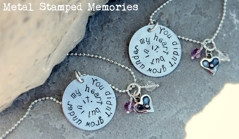 Mother and Daughter Adoption Necklace Set