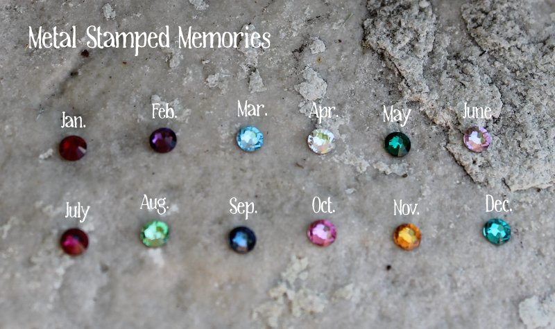 Birthstones for the In My Family Tree Necklace