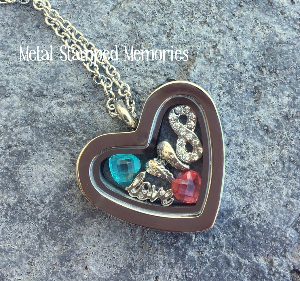 Pregnancy and Infant Loss Awareness HEART Locket