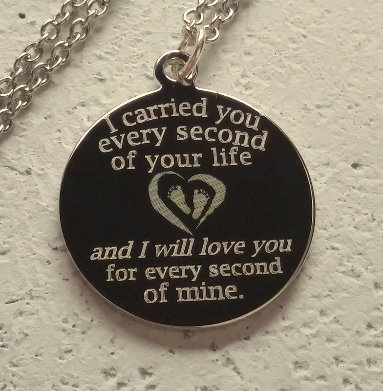 I Carried You Engraved Necklace