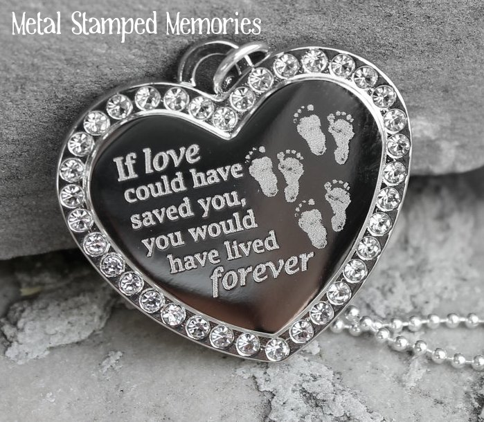 If Love Could Have Saved You Heart Necklace for Triplets