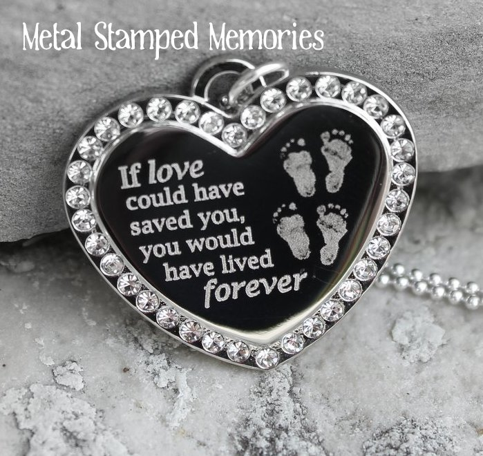 If Love Could Have Saved You Heart Necklace for Twins