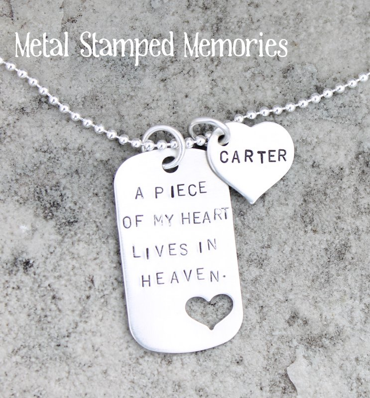 A Piece of My Heart Lives in Heaven Dog Tag