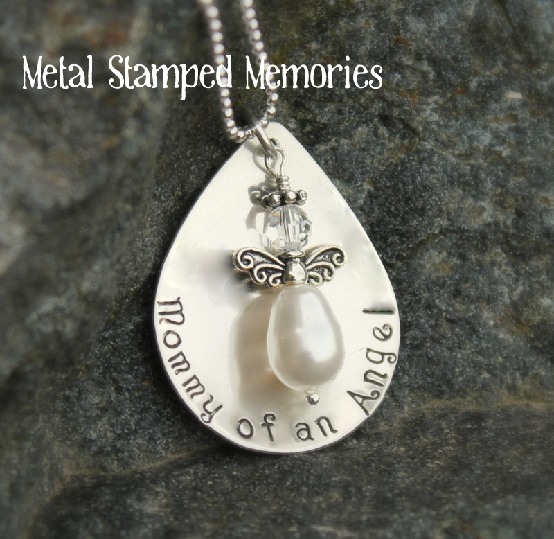 Mommy of an Angel Teardrop Necklace