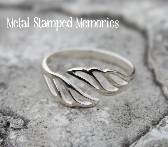 Open Angel Wing Ring
