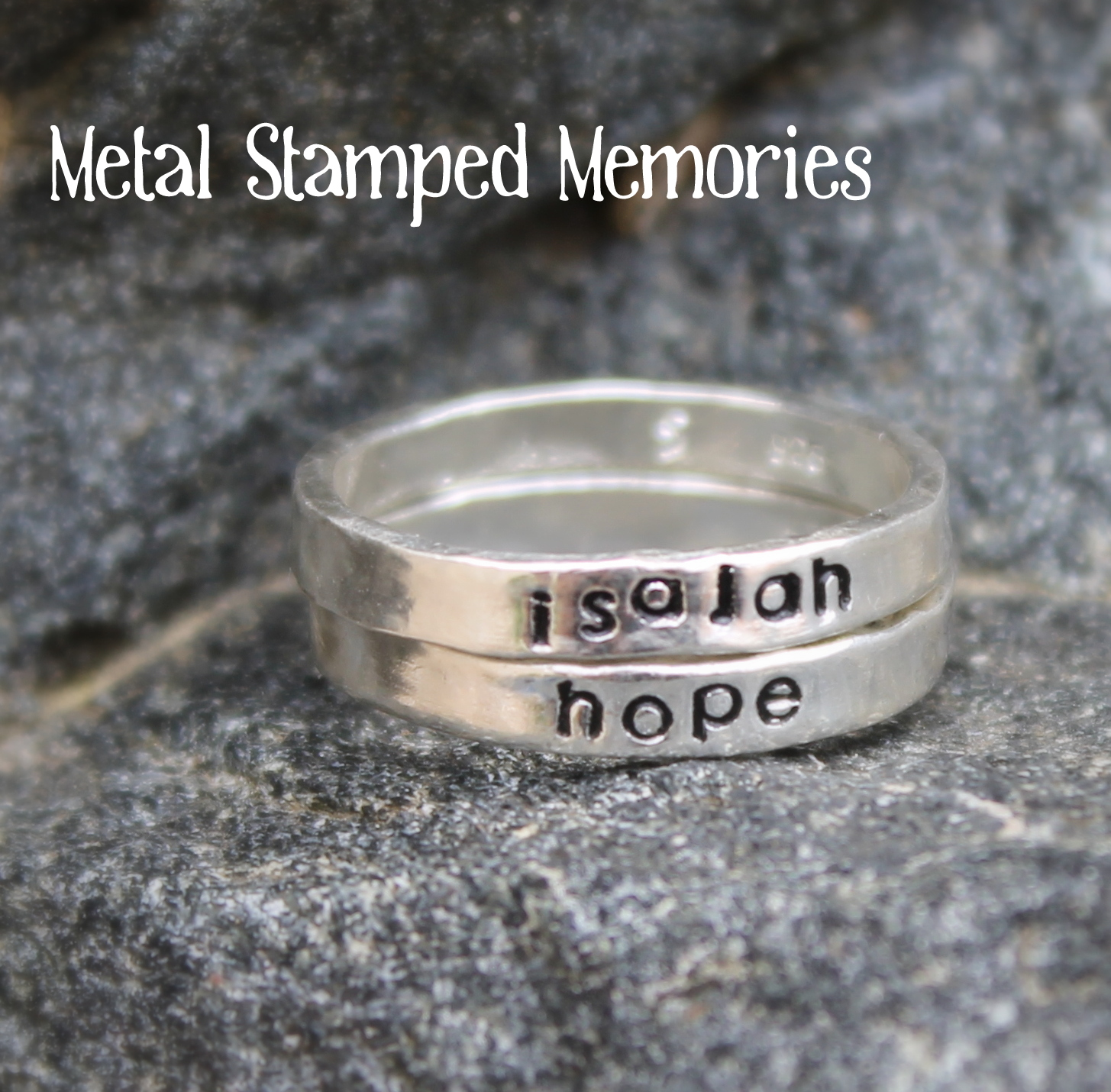 name rings memory img ring baby gifts jewelry mother earrings angel metal stacking footprint of and