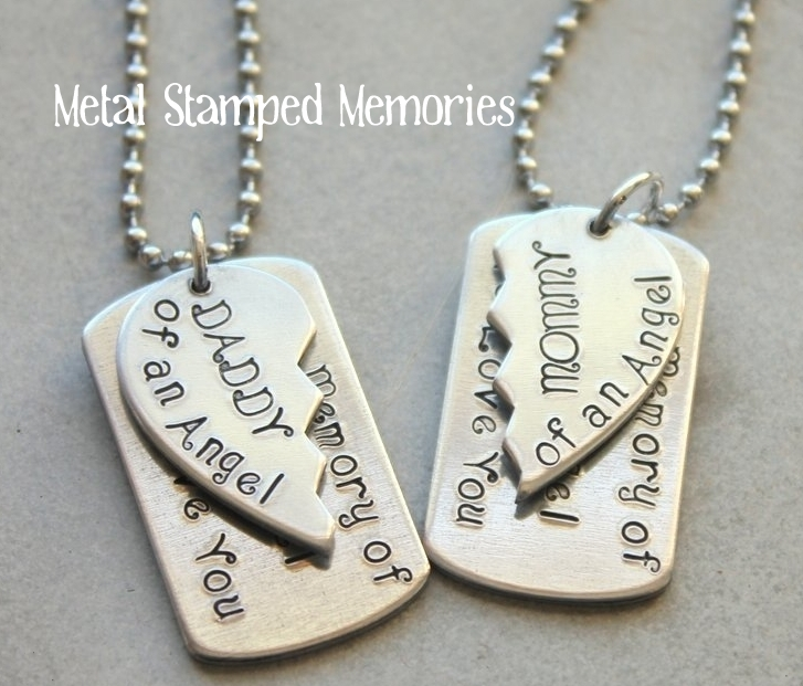 Broken Heart Dog Tag Set