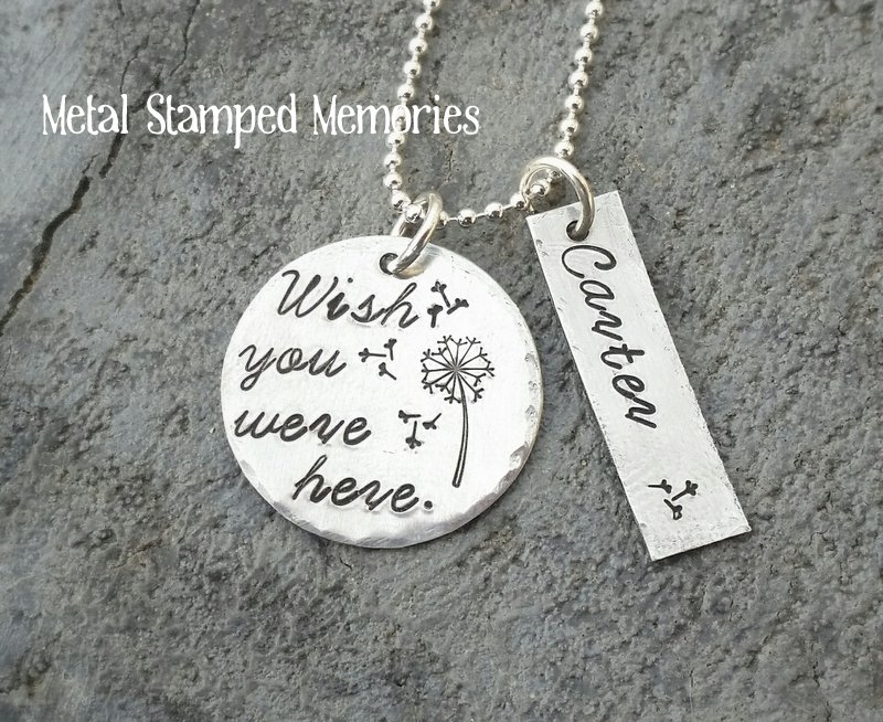 MiscarriageInfant Loss Necklaces Metal Stamped Memories
