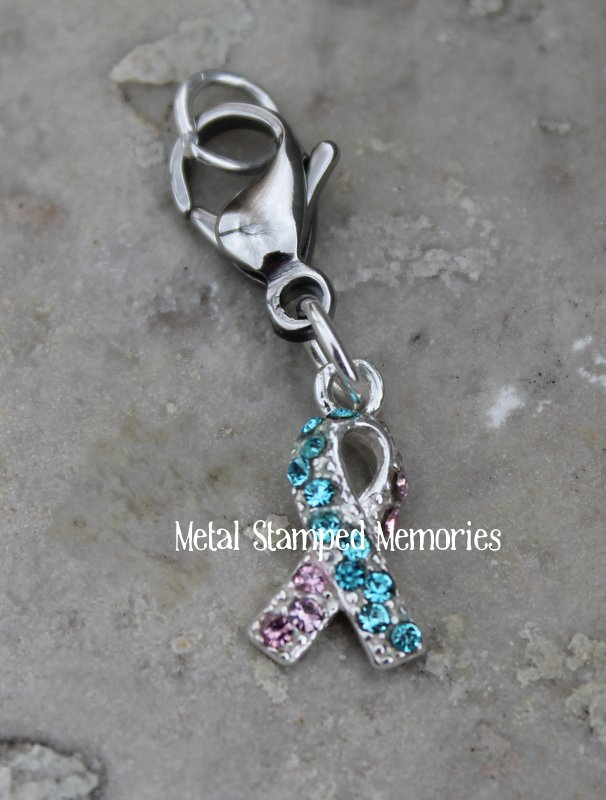 Pregnancy and Infant Loss Awareness Ribbon Dangle